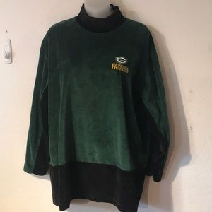 GAME DAY CLOTHING GREEN BAY PACKERS velour top L